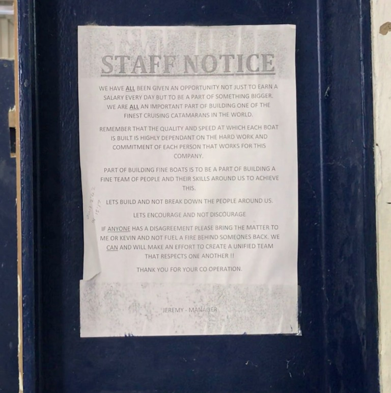 Staff Notice for Article